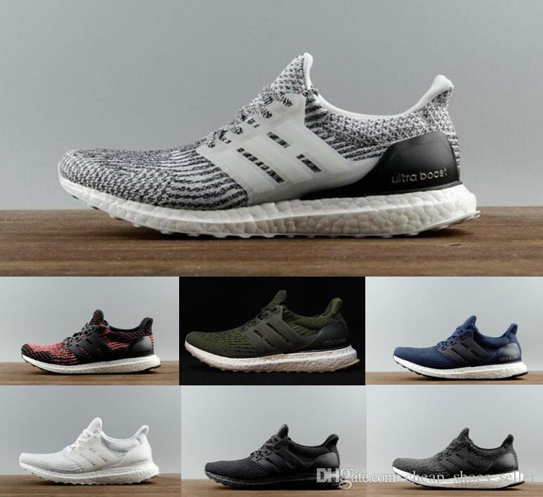 ab1b50020ba1f3 2019 2019 Brand Ultra Boost 3.0 Triple Black White CNY Oreo Blue Men Women Running  Shoes UltraBoost Primeknit Shoes Sports Sneaker Size 36 45 From ...