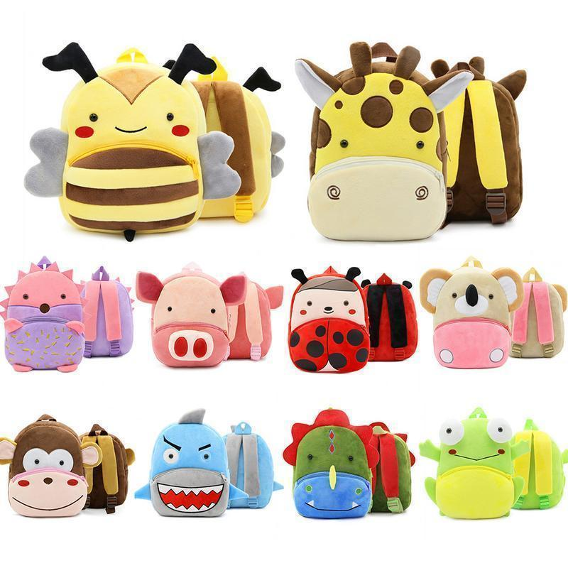 Zoo Series Cute Children School Backpack Bag Plush Backpacks For Kindergarten Early Education Bags Backpack For Girls Boy Child