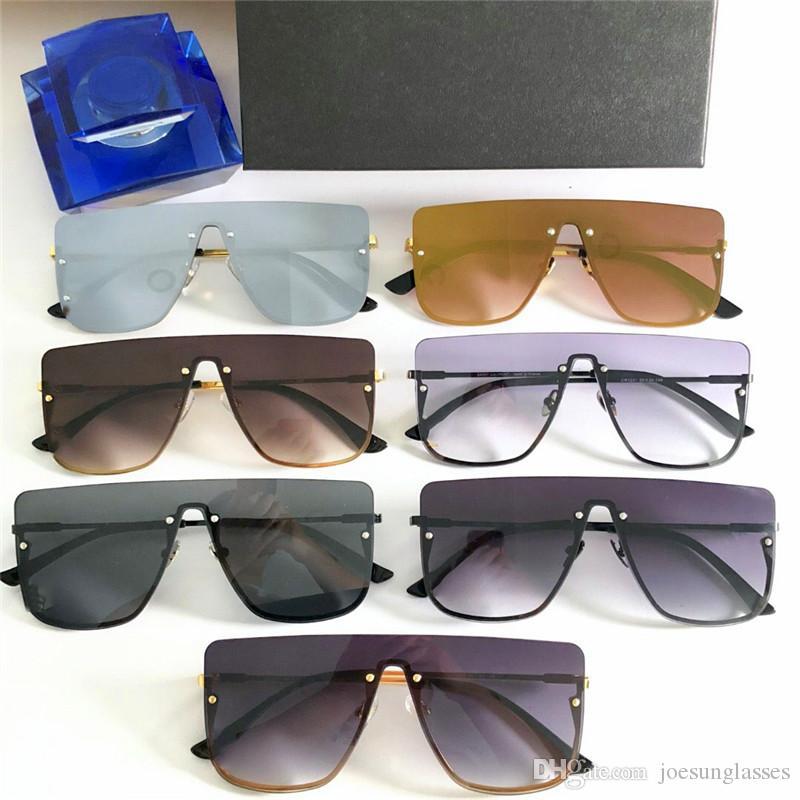 e46218f329 Compre Nuevo Diseñador De Moda Gafas De Sol 1231 Sin Marco Cuadrado Popular  Estilo Minimalista Calidad Superior UV 400 Lentes De Protección Gafas A  $55.84 ...