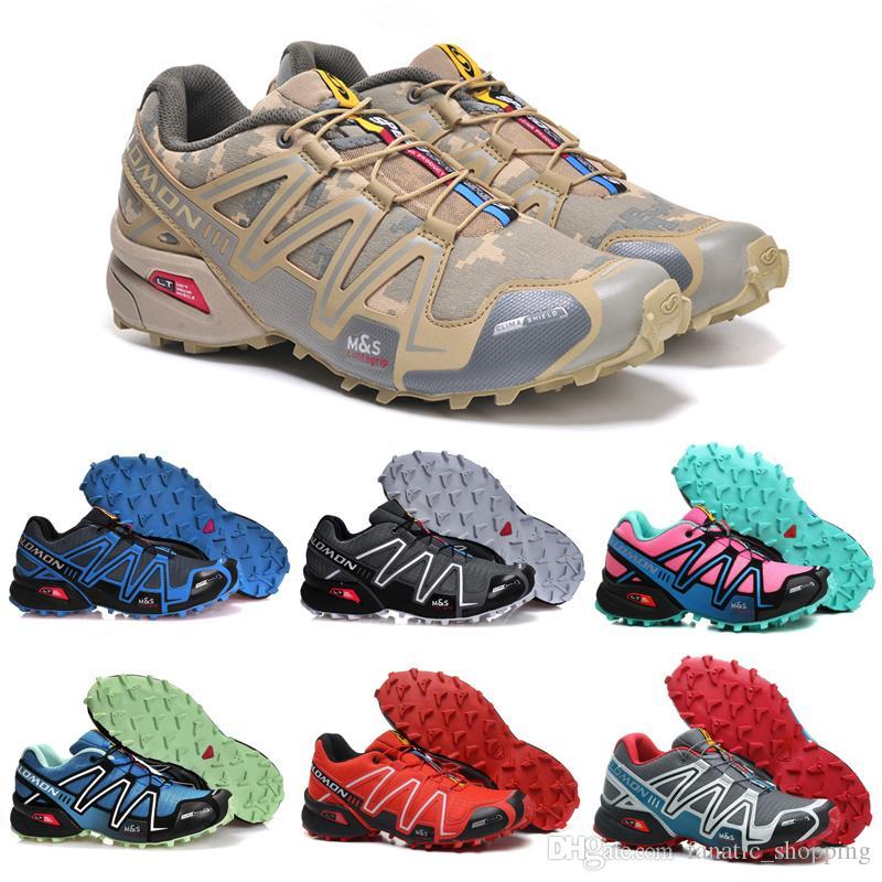 low priced b5463 ac558 Salomon Speedcross 3 CS Trail Running Shoes Black Pink Speed Cross III  Women Mens Trainer Waterproof Outdoor Sports Sneakers 36-46