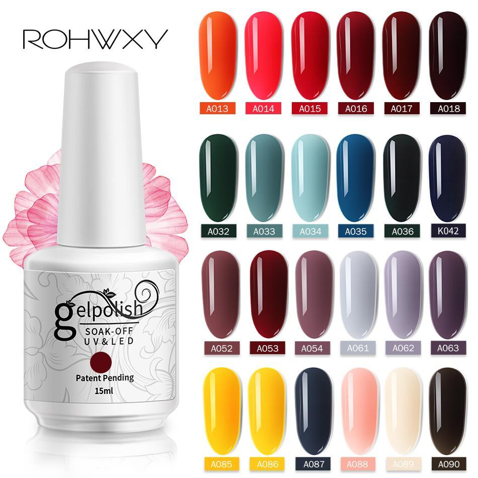ROHWXY 15ml UVgel Top UV-LED-Gel-Nagel-Kunst-Lack-Hybrid Soak Off Gel Lack Glück Nagellackpolitur Gellak 10PCS / LOT