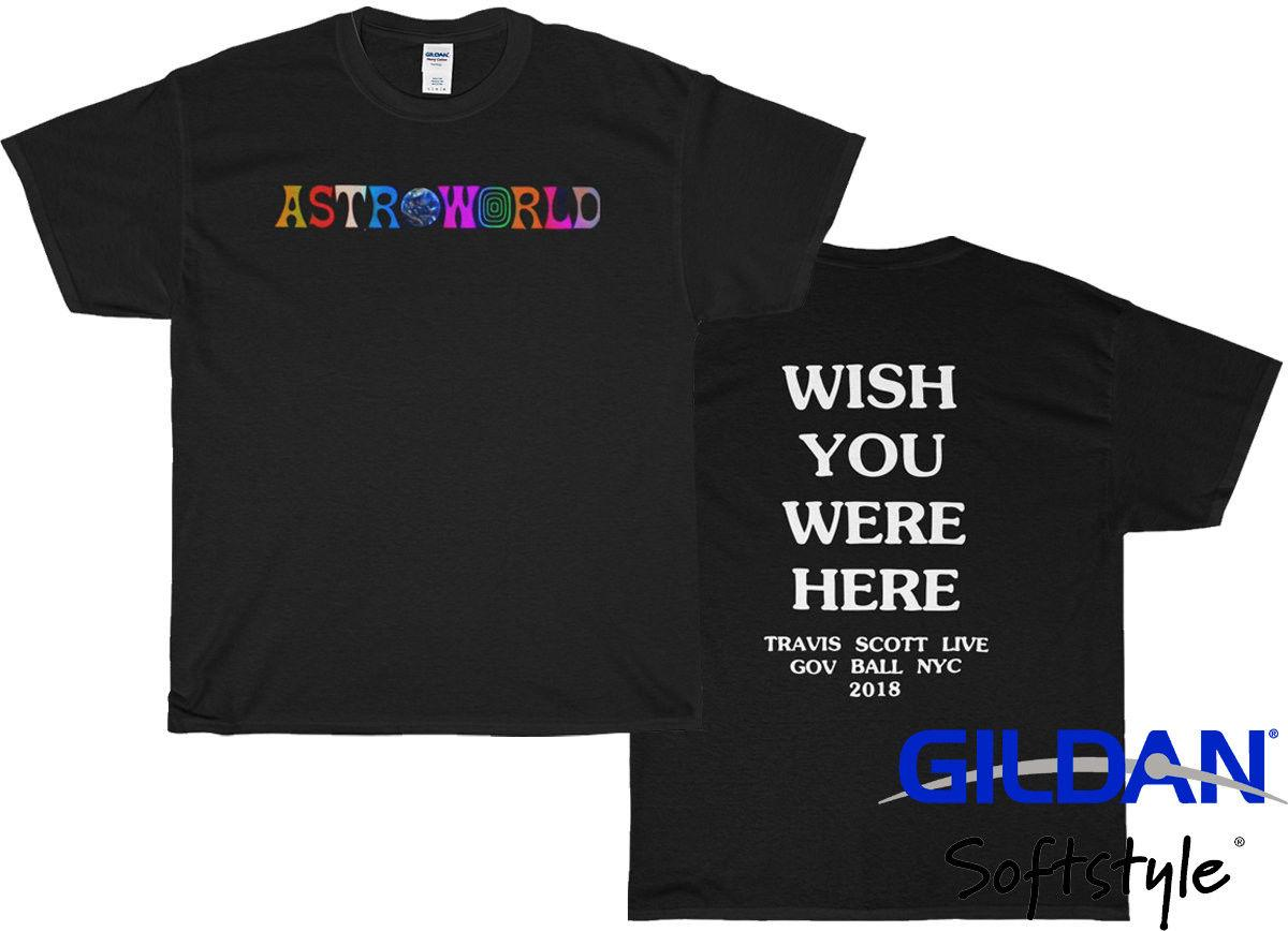 6a237abd1847 Travis Scott Astroworld Wish You Were Here T Shirt Front And Back Printed  Unisex Online with $12.99/Piece on Nolifeshirt's Store | DHgate.com