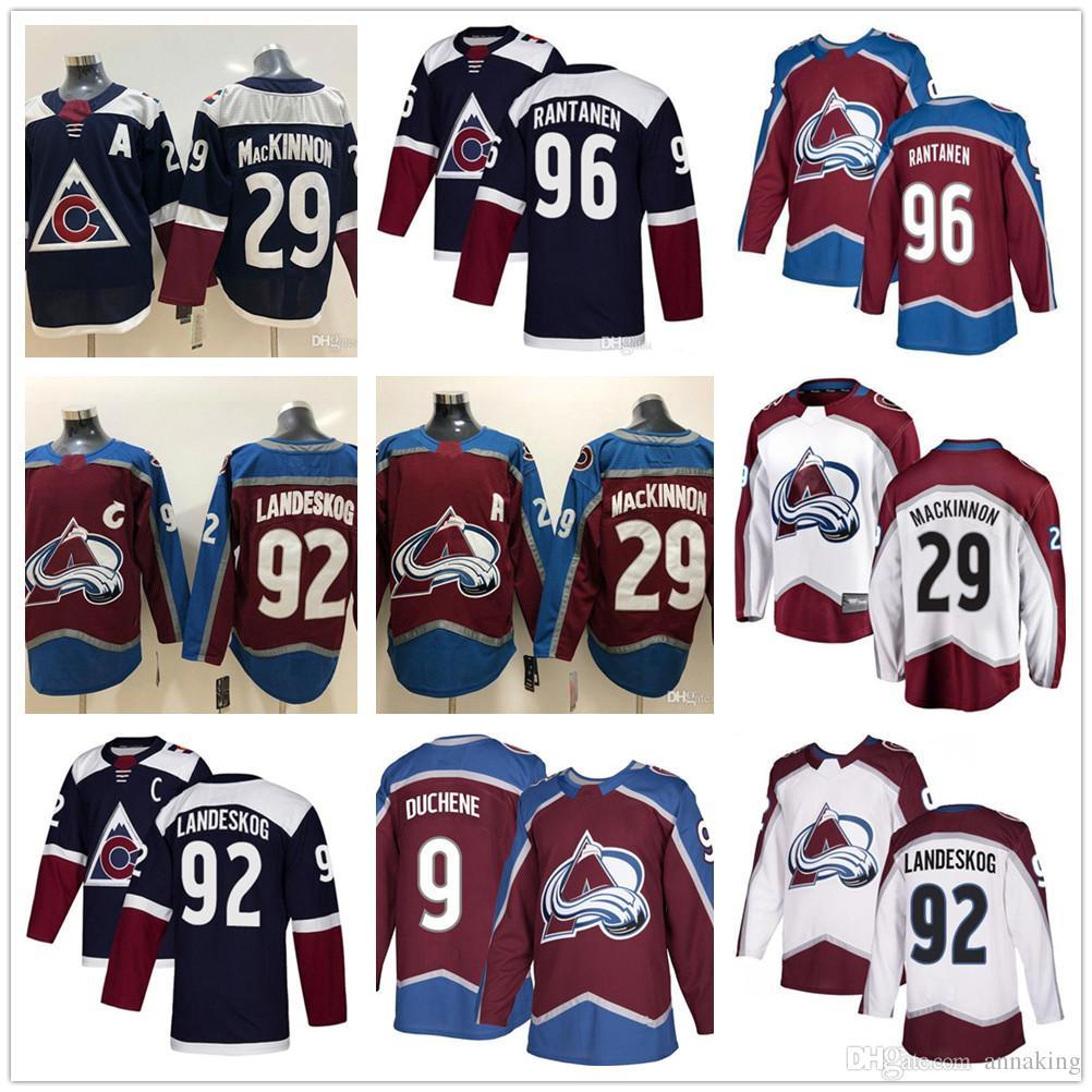 b9b87772673 2019 Cheap Mens Colorado Avalanche Hockey Jerseys 92 Gabriel Landeskog 29  Nathan MacKinnon 19 Joe Sakic 9 Matt Duchene 96 Mikko Rantanen Jersey From  ...