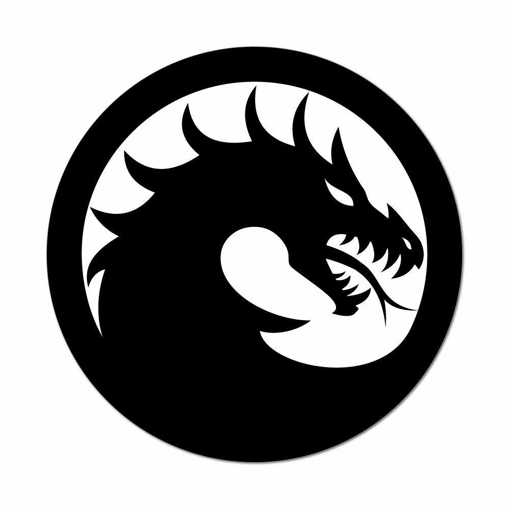 2019 chinese dragon ball tribal black and white car sticker decal vinyl hobby car bumper sticker from xymy767 2 92 dhgate com