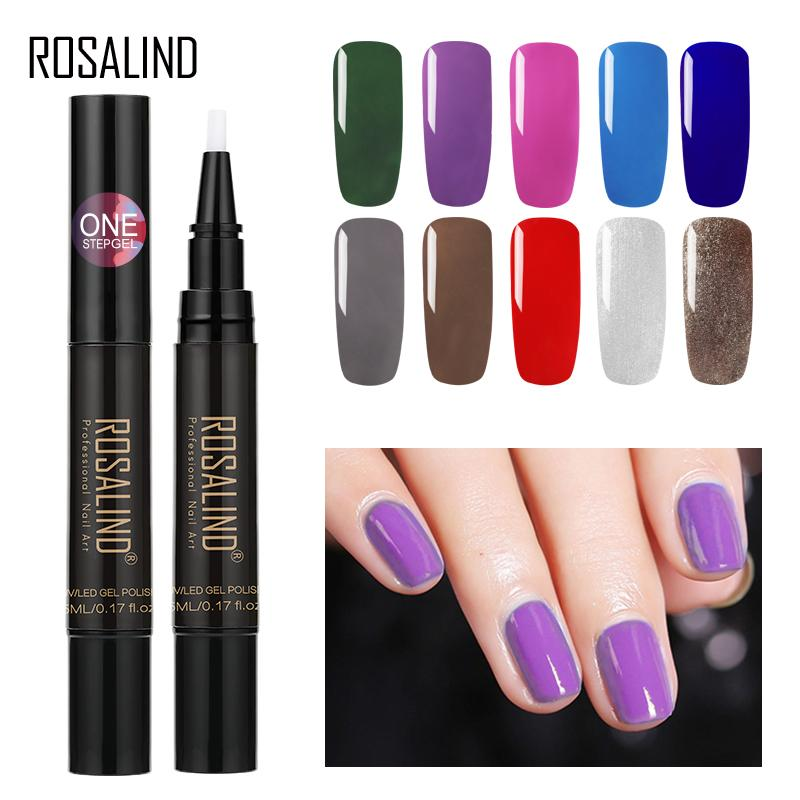 ROSALIND Gel Nail Polish Glitter One Step Gel Pencil Nails Semi ...
