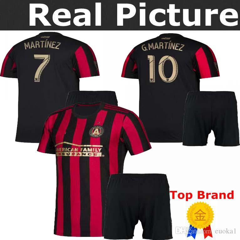 low priced 2fe68 64769 Atlanta United Home Jersey 2019 MARTINEZ #7 VILLALBA #15 BARCO #8 KIDS  Football shirts 2019-2020 sport t-shirts training suit kits
