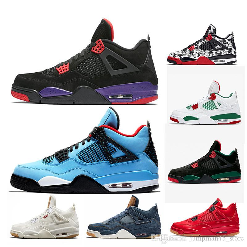 2019 Travis Scott X 4s HOUSTON Cactus Jack Mens Basketball Shoes Raptors  Tattoo Singles Day Fire Red Sports Trainers Sneakers US 7 13 From  Jumpman45 store 2dd11ab51