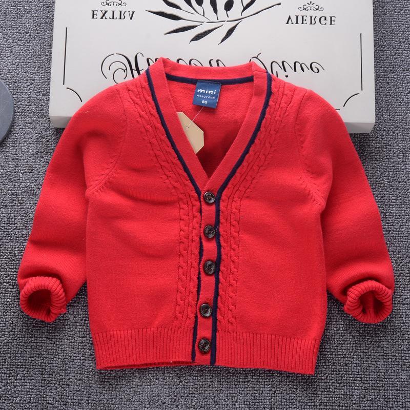 Good Qualitysweater Cardigans Winter Thicken Kids Knitwear Coats