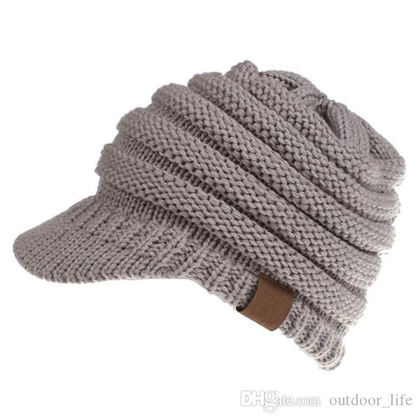 f5829b5679e New Solid Color Ponytail Beanies Hats   Caps Women Winter Knitted Wool Cap  Girls Casual Hip-Hop Skullies Beanie Warm Hat Beanies Knitted Hats Hat  Online ...