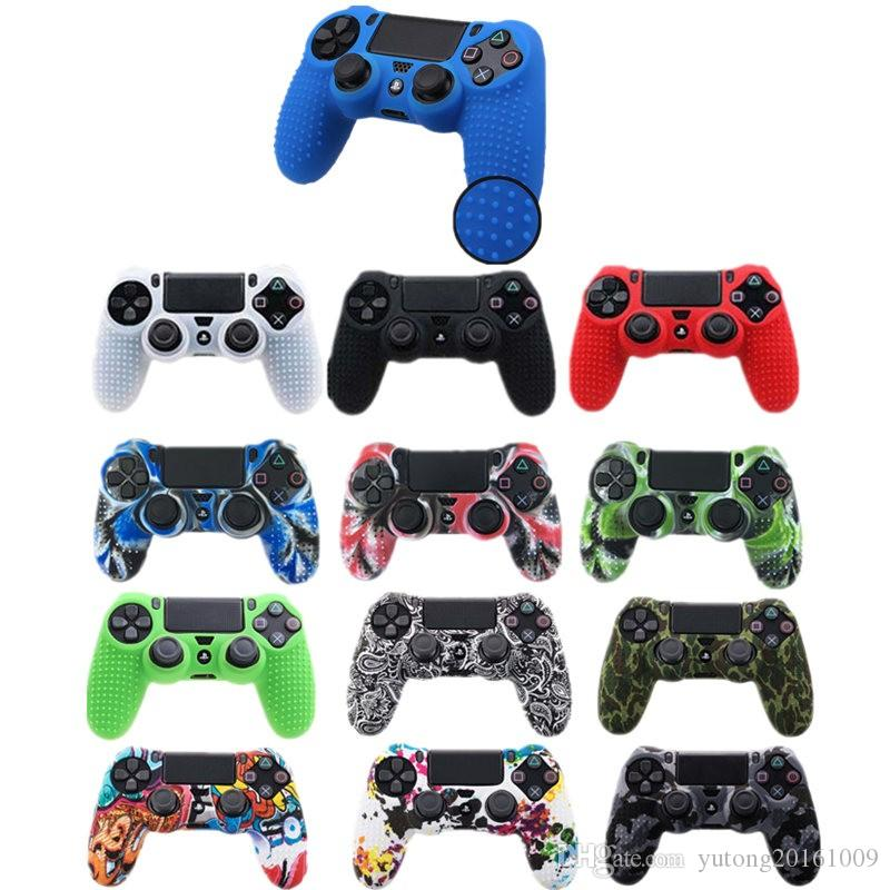 1PCS Anti-slip Silicone Cover Skin Case for Sony Play Station Dualshock 4 PS4 Pro Slim Controller wireless Game accessories