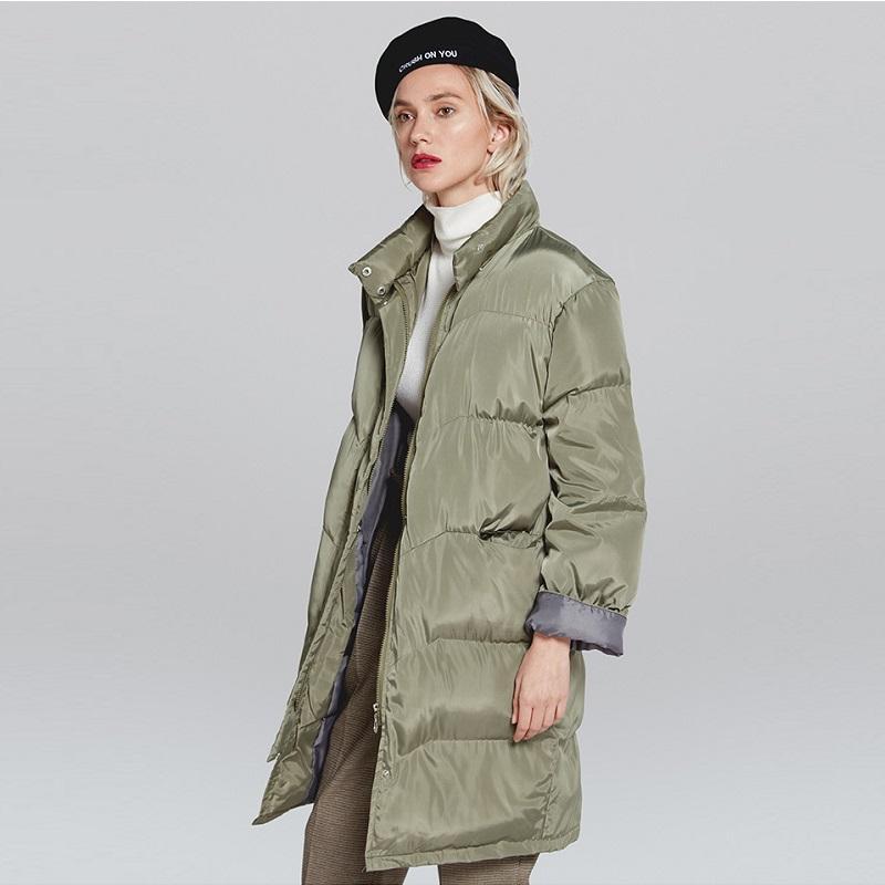18bb87a4d6fdd Acheter SHIBEVER Hiver Parka Femmes 2018 Vestes Manteau De Base Longue  Puffer Veste Coton Femmes Survêtement De Mode Casual Femme Manteaux ADR144  De $70.22 ...