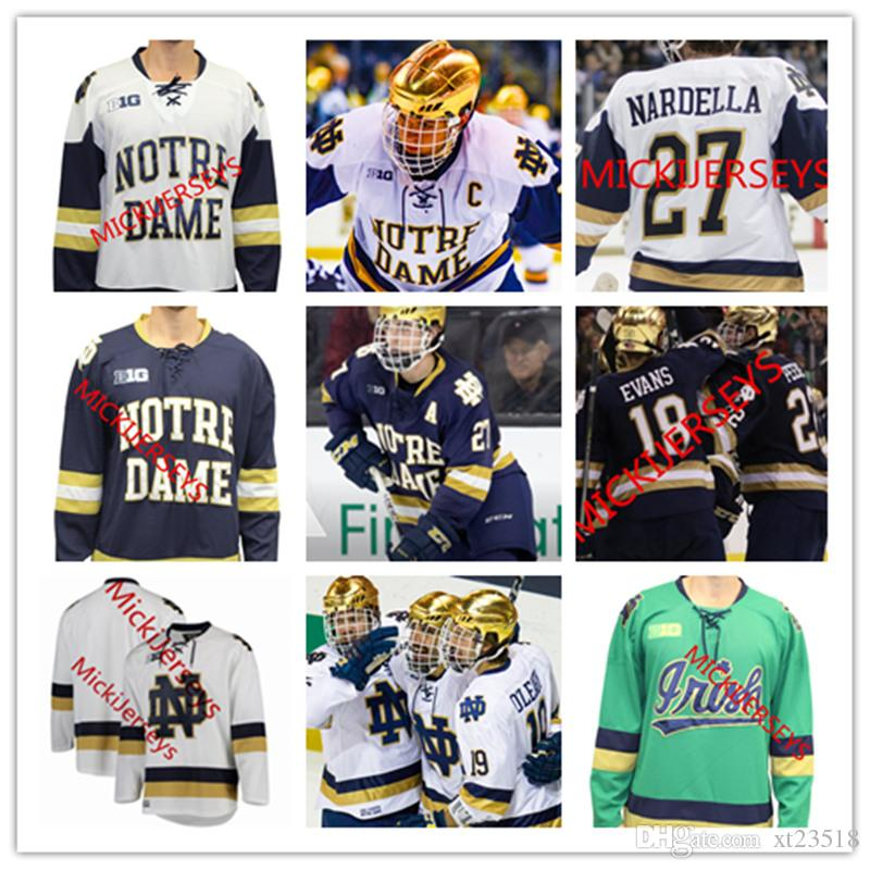 8ddf149732a Großhandel Mens Custom Notre Dame Eishockeytrikot Cal Burke Andrew Peeke  Dylan Malmquist Bobby Nardella Jack Jenkins Von Cale Morris Notre Dame  Trikot S 3XL ...