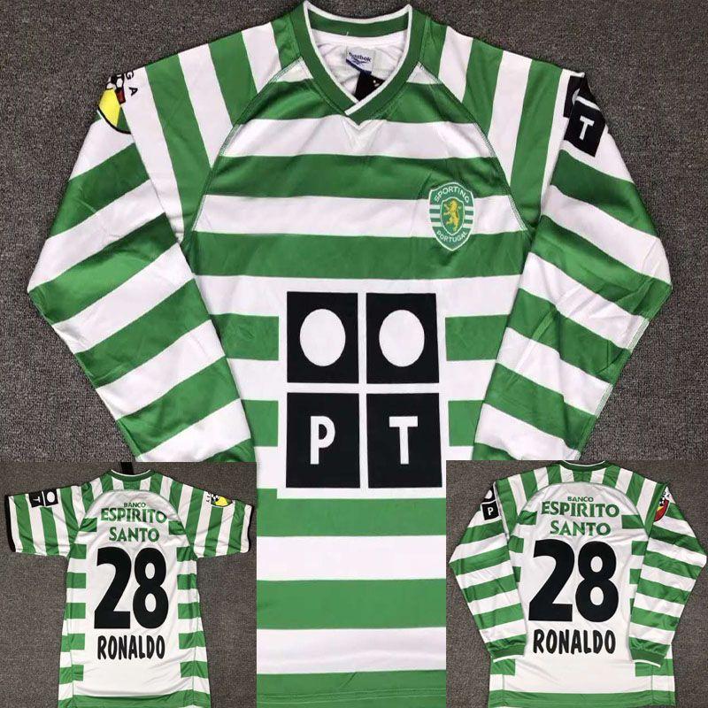 super popular c83d7 59bc3 02 03 Sporting Ronaldo Portugal Soccer jersey 2002 2003 Lisbon Vintage  Footbal Shirts Soccer Kits Ronaldo Camisa de futebol Maillot