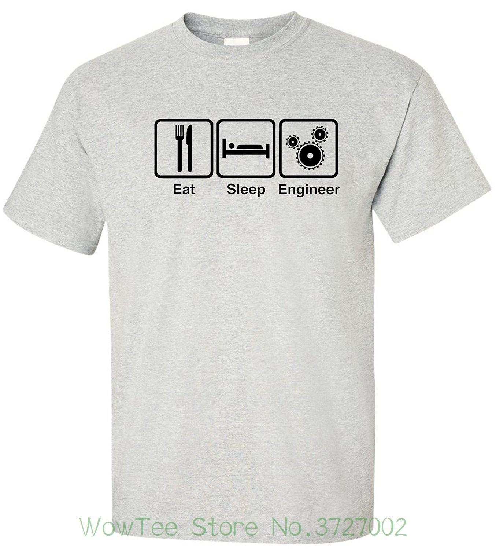 914a0223 Eatsleeptee Men's Eat Sleep Engineer T-shirt Funny Engineering Tee Fashion  T-shirts Summer Straight 100% Cotton