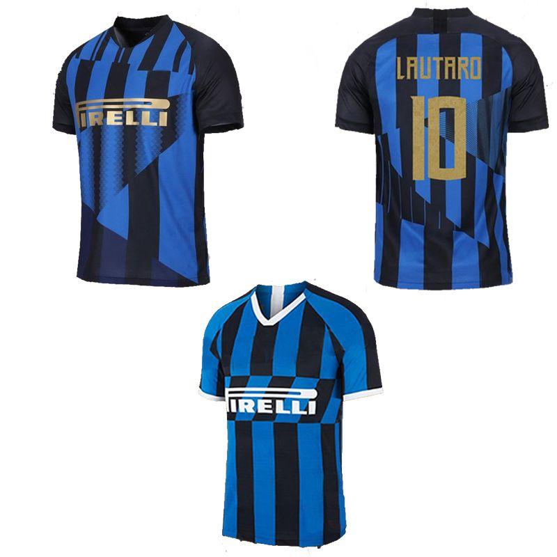 buy online 4a994 82888 ICARDI inter LAUTARDO Milan home 20th anniversary soccer jersey 19 20  CANDREVA EDER EVER BANEGA PERISIC VECINO Football shirt 2019