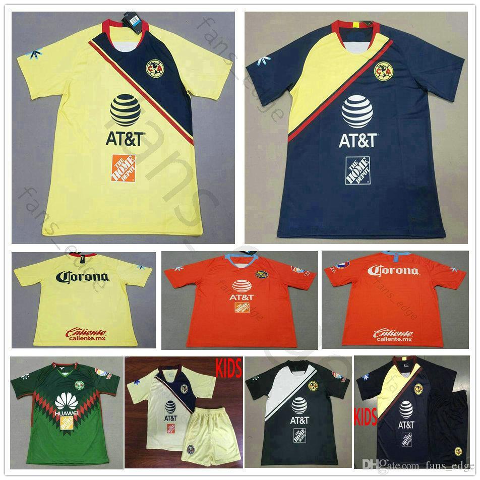 34833d161 2019 2019 LIGA MX Club America Soccer Jerseys Home Away 3rd Orange 18 19 O. PERALTA C.DOMINGUEZ MATHEUS Custom Soccer Jersey Football Shirts From  Fans_edge, ...