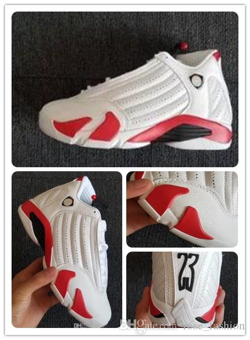 34c8c3af3a241b 2019 14 Candy Cane Mens Basketball Shoes White Black Var Red Athletics 14s  Last Shot DESERT SAND BLACK TOE Sports Shoes With Box Free Ship Sneakers  Shoes ...