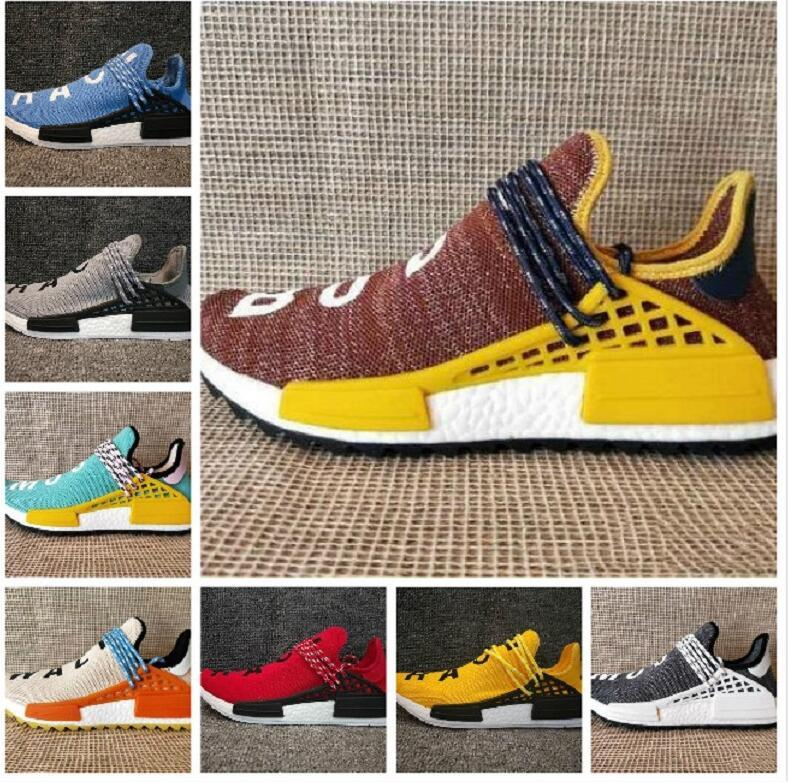 e25799ba81b700 HOT SALE 2018 New High Quality Human Race PHARRELL WILLIAMS Women Men  Designer Shoes Sneakers Discount Trainers Suede Shoes Shoe Sale From  Dage88803