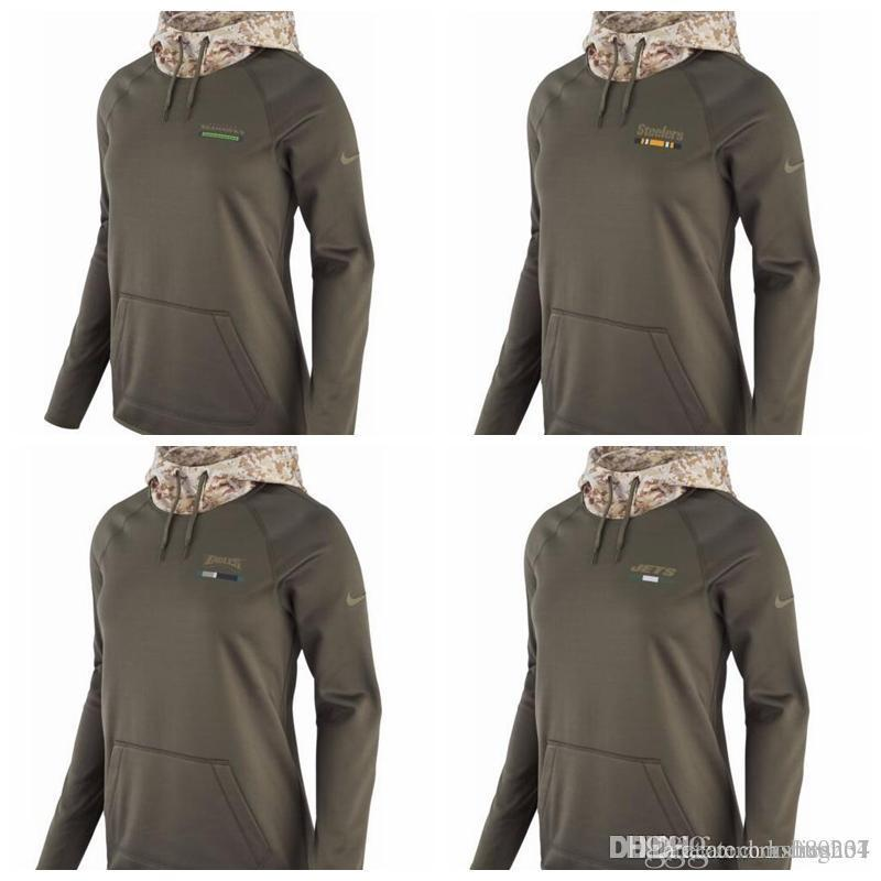 the latest db440 09855 Women's Seattle Seahawks Pittsburgh Steelers Philadelphia Eagles New York  Jets Salute to Service 2017 Therma-FIT Performance Hoodie