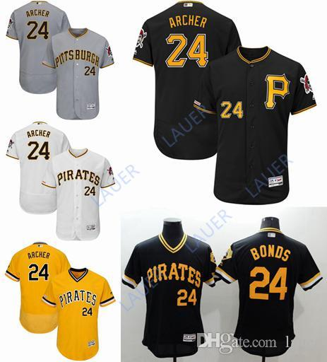 the latest 67032 6c654 Hot Pittsburgh Men s Pirates Chris Archer Bonds Majestic White Home Flex  Base Authentic Collection Player Jersey