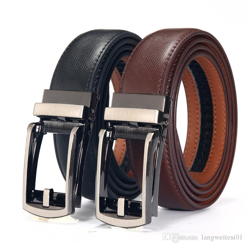 New Pattern Man s Genuine Leather Needle Buckle Belt Leisure Time ... eb5629493e