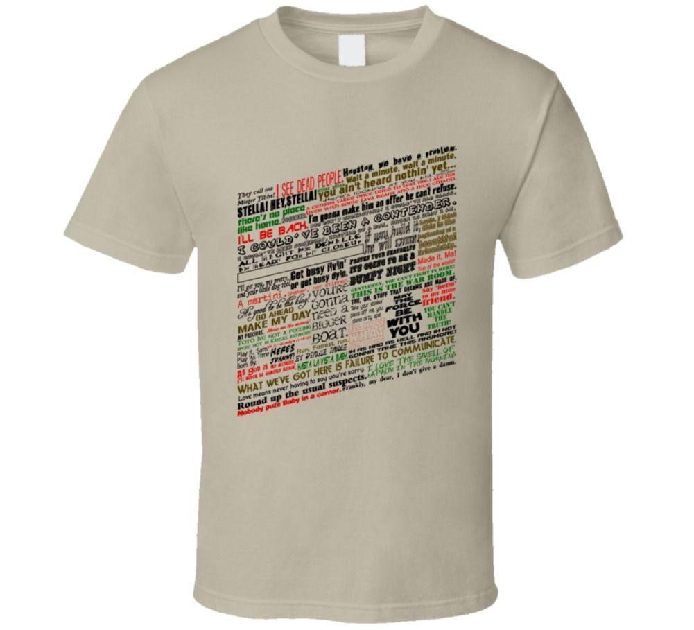 Movie Quotes Famous Popular Funny Game T Shirt Super Cool T Shirts
