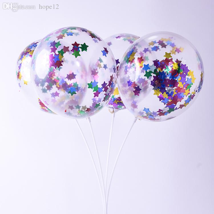 La nueva manera de las lentejuelas multicolores de látex rellenas claras Globos y Novedades de Juguetes para niños Hermosa fiesta de cumpleaños para matrimonio de 12 pulgadas