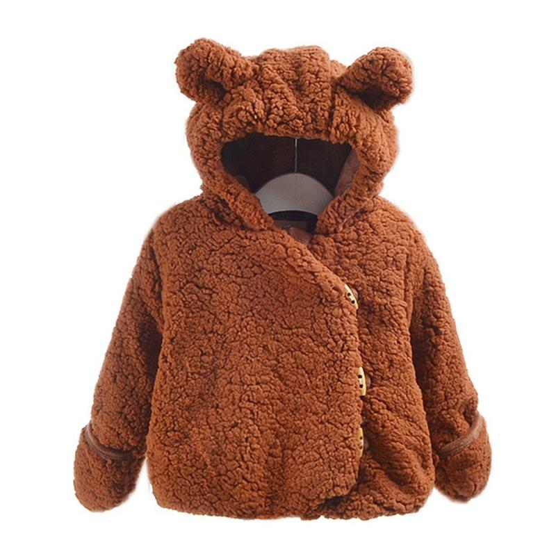 d16c6d135 Children Winter Coats Jackets Kids Warm Thick Hooded Outerwear Baby ...
