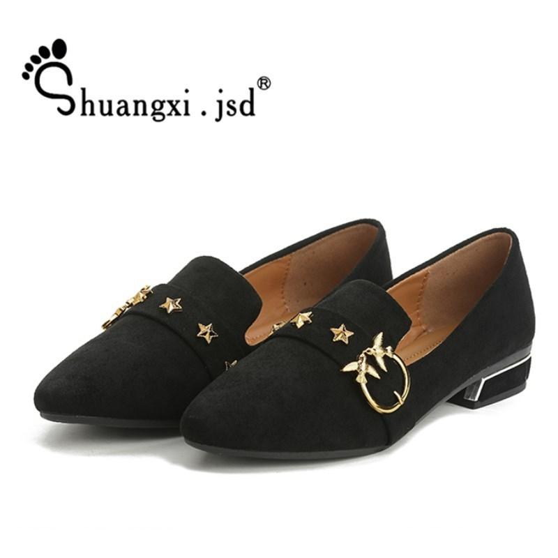 c8a43a025cd8 Designer Dress Shoes Shuangxi.Jsd Designer Women Luxury 2019 Summer Fashion  Ladies Heels Black High Quality Ladies Zapatos Mujer Slip On Shoes Mens  Loafers ...