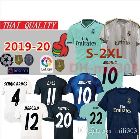 014957025d5 2019 2019 2020 Real Madrid Soccer Jersey Shirt New 19 20 SERGIO RAMOS  MODRIC BALE ISCO Football Shirt Uniforms ASENSIO Camisetas De Fútbol S 2XL  From ...