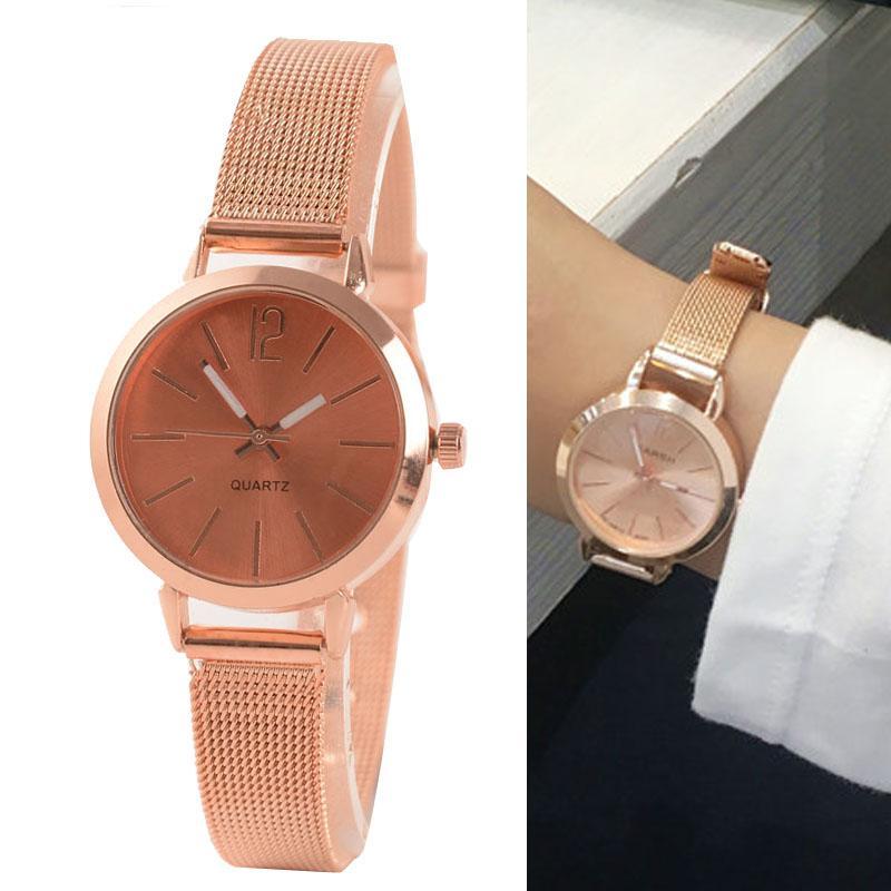 0988ccbd9c6 2018 New Fashion Women Watches Exquisite Rose Gold Stainless Steel Quartz  Watch Ladies Bracelet Watch Relogio Feminino Hot Sale Digital Watch Best  Watches ...