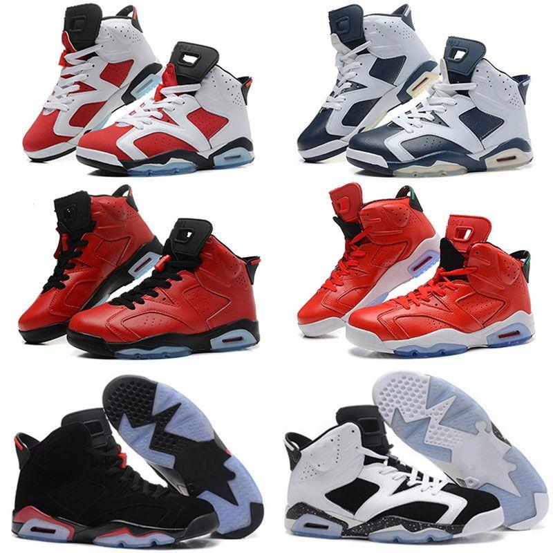 cb8d1871b39ed4 2019 Men Black Infrared Jumpman 6 6s Kids Basketball Shoes Mens CNY Carmine  Gatorade Green Tinker UNC Black Cat Designer Trainers Sneakers Kid Shoes  Online ...