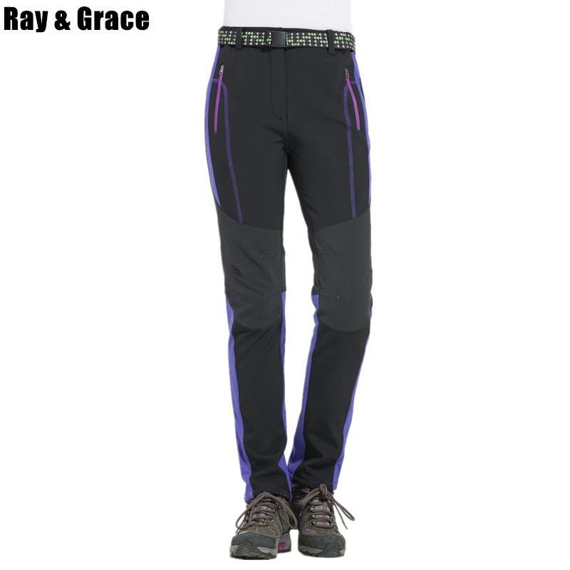 b05e629f44 Compre RAY GRACE Pantalón De Trekking Para Mujer Invierno Térmico A Prueba  De Viento Senderismo Pantalones Deportivos Al Aire Libre Pantalones Para  Mujeres ...