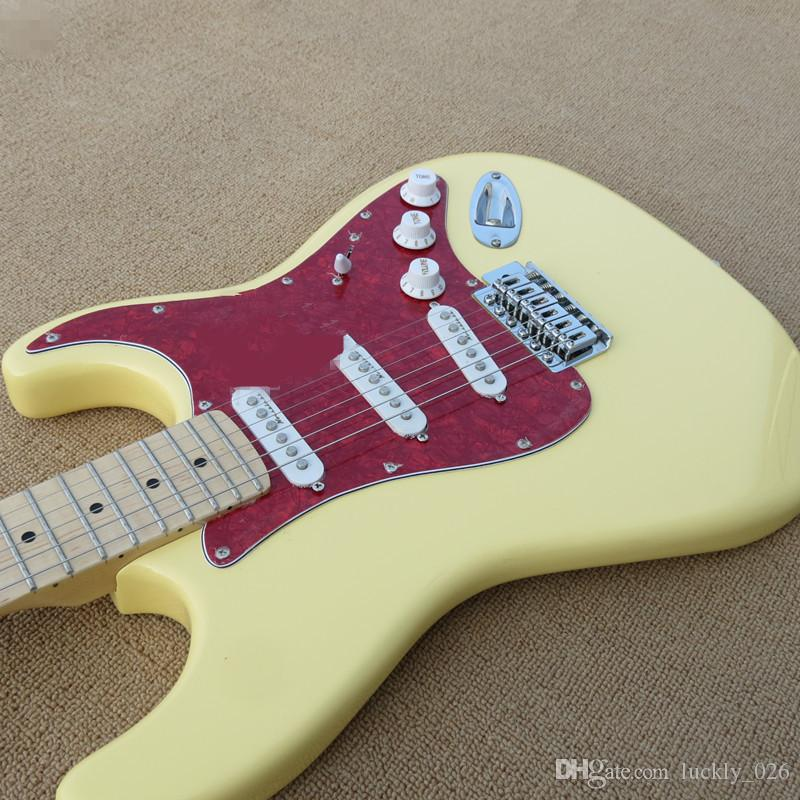 Milk luteal electric guitar and maple necks, red guard board, SSS hardware, custom made, free delivery.