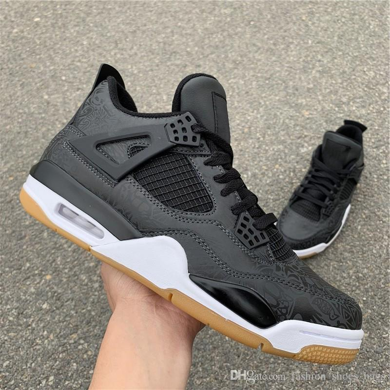 88bf7ac85e68 New 4 High Hydro IV Black Gum X Quality Basketball Shoes Designer Mens  Women Shoes 4s Sneakers Casual Shoes Fashion With Double Box Shoes Jordans  Sneakers ...