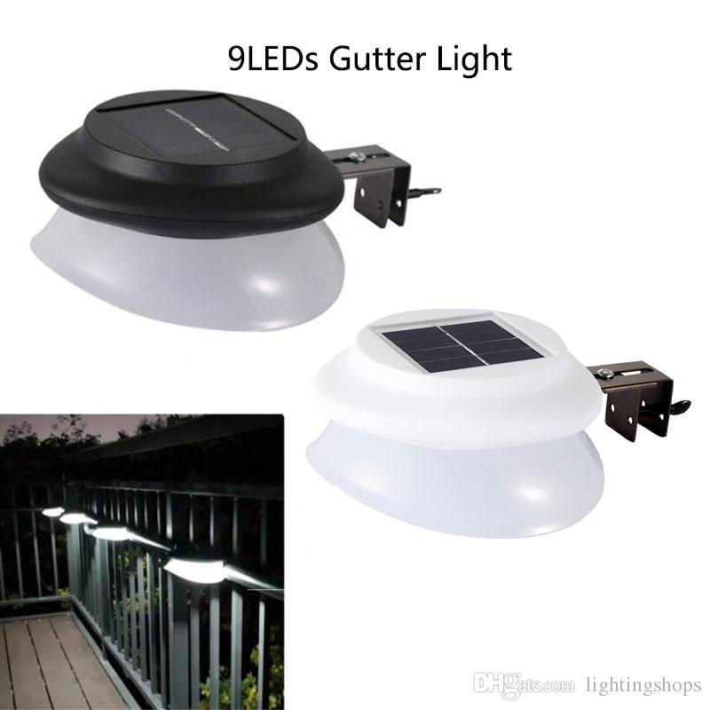 Éclairage Sécurité Extérieures Pour Solaires Yard Garden Clôture Gouttière Lampes Lights Poteau Led Paysage 9 De Étanches Eaves m8nN0w