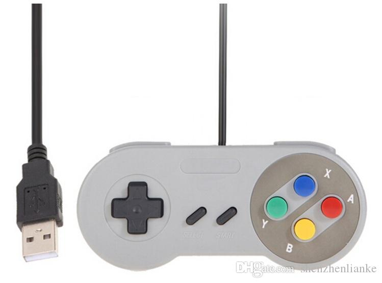 Contrôleur USB classique Contrôleurs Gamepad Joypad Joystick de remplacement pour Super Nintendo SF pour Tablet PC NES SNES LaWindows MAC dhlfree