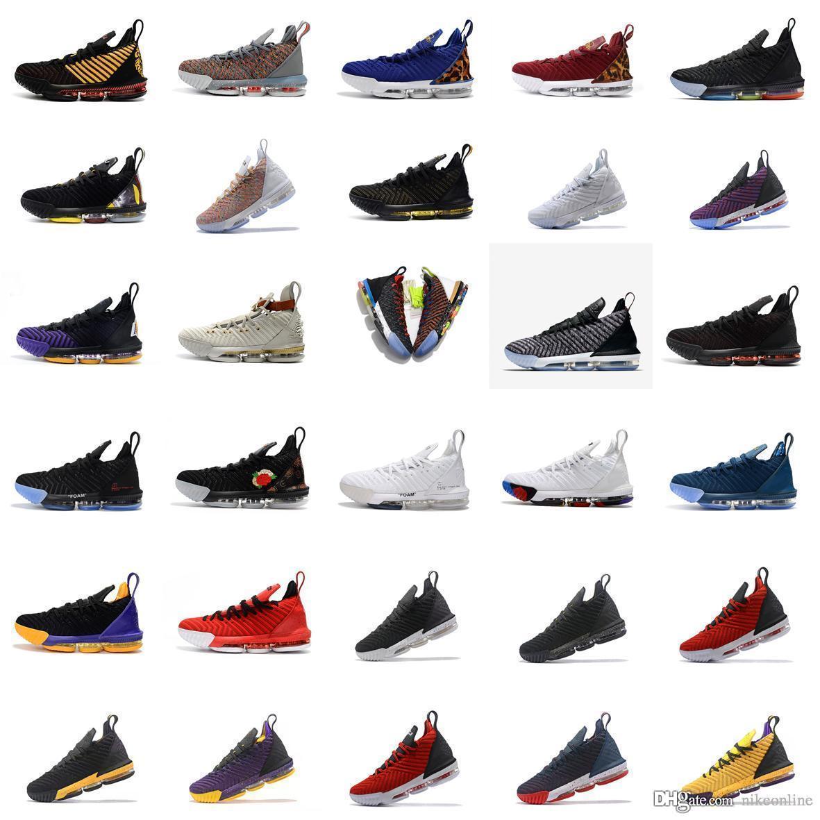 new arrival 45933 c36a8 Mens lebron 16 scarpe da basket Multi colore Fruttato Ciottoli Oro Nero  Viola Leopard Rosso Ragazzi Ragazze Donne gioventù bambini sneakers stivali  ...
