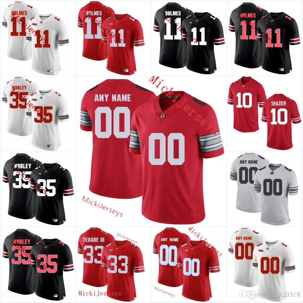 new styles e0b3e 4199d Custom Ohio State Buckeyes Football Jersey Jaly Holmes Chris Worley Tracy  Sprinkle Marcus Baugh Randy Gradishar Ryan Shazier Ohio Jersey
