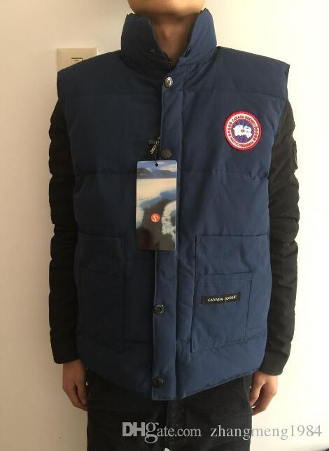 63f9a3296be 2019 Men'S Canada Christmas Gift Winter Outdoor Warm Goose Down Vest Jacket  Cotton Vests Outerwear Coats From Zhangmeng1984, $33.5 | DHgate.Com