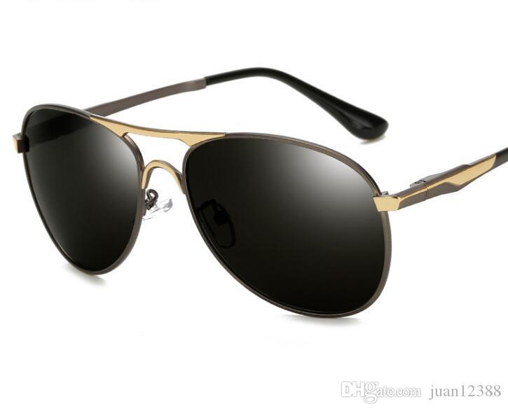 998517794f Compre 2019 Nuevas Gafas De Sol Polarizadas Gafas De Sol De Los Hombres De  Moda Piloto Rana Polarizada Espejo De Conducción Gafas De Conducción Espejo  Al ...