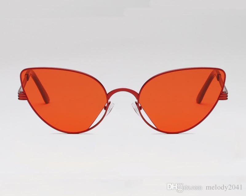 c4f96dac21 New Metal Frame Cateye Sunglasses Fashion Designer Sun Glasses For Women  Cat Eye Glasses Frame Wholesale Cat Eye Sunglasses Round Sunglasses From  Melody2041 ...