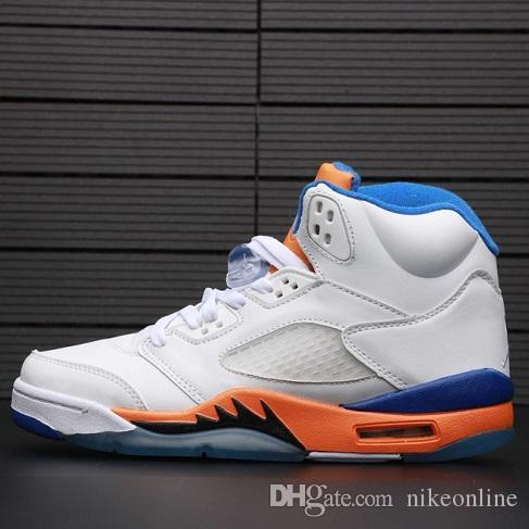 timeless design 65d68 4003c Cheap mens retro 5s basketball shoes j5 Orange White Laney blue yellow  Wings Floral Melo youth kids Jumpman V aj5 sneakers boots with box