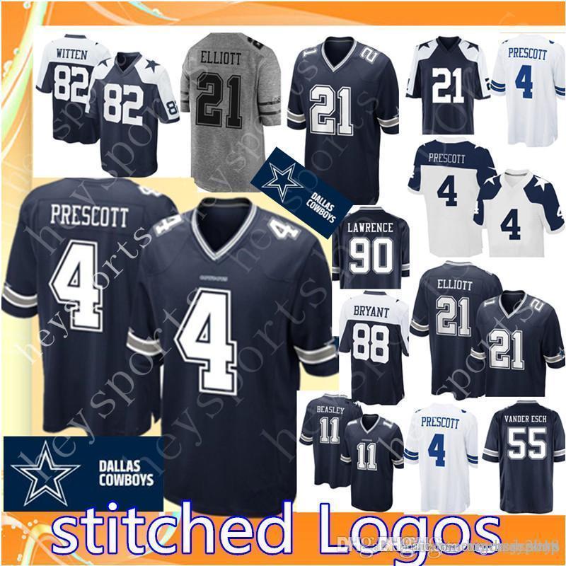 955a2da2be1 2019 4 Dak Prescott Dallas Cowboys 21 Ezekiel Elliott Jersey Mens 55 Vander  Esch 82 Jason Witten 90 DeMarcus Lawrence 11 Beasley Football Jerseys From  ...