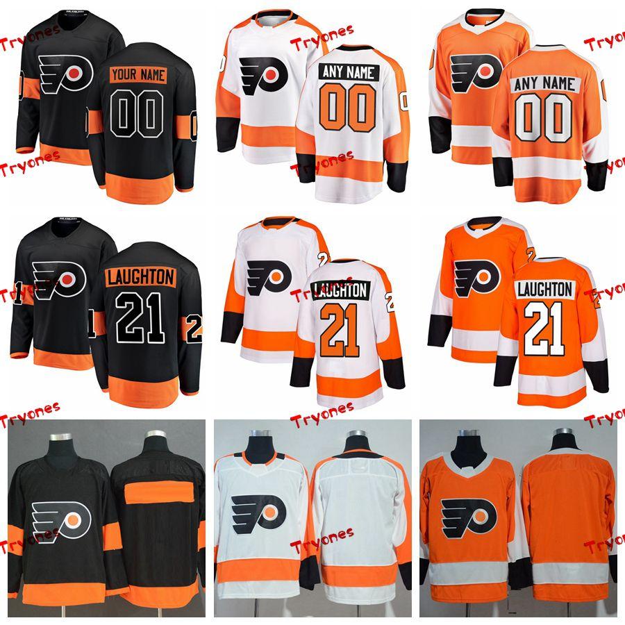 e111c4f2dbe 2019 2019 Scott Laughton Philadelphia Flyers Stitched Jerseys Customize  Home New Alternate Black Shirts #21 Scott Laughton Hockey Jerseys S XXXL  From ...