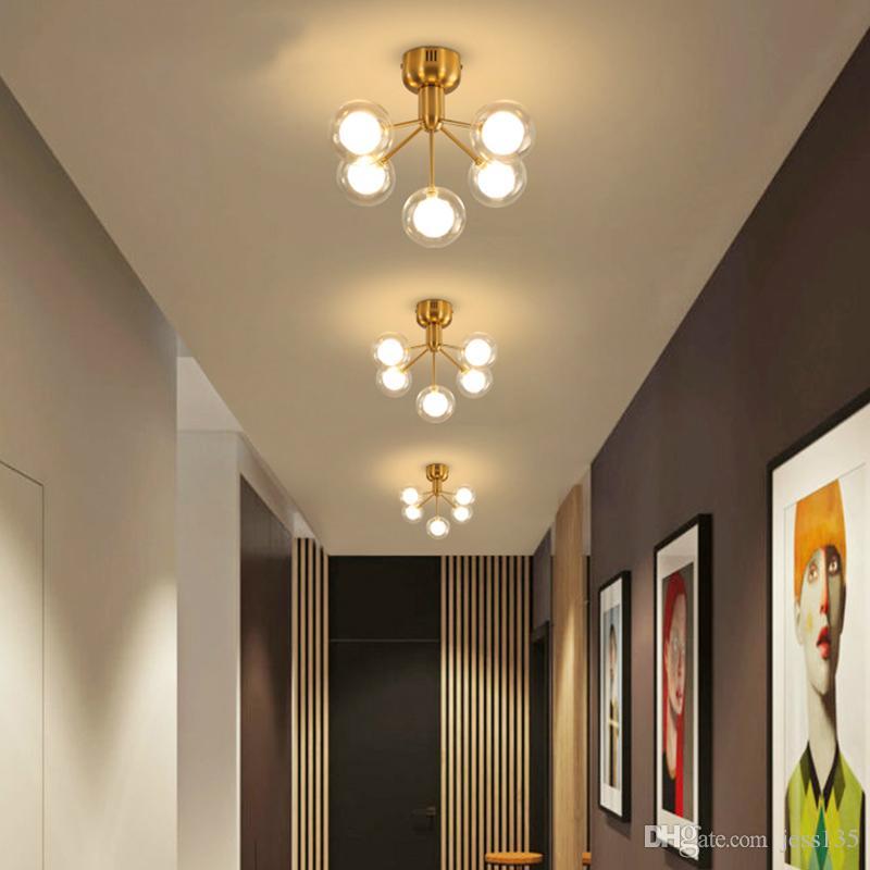 Moderne Led Lustre Plafond Salon Lampes Suspendues Boule De Verre Deco Luminaires Nouveaute Eclairage Restaurant Suspendu Lumieres