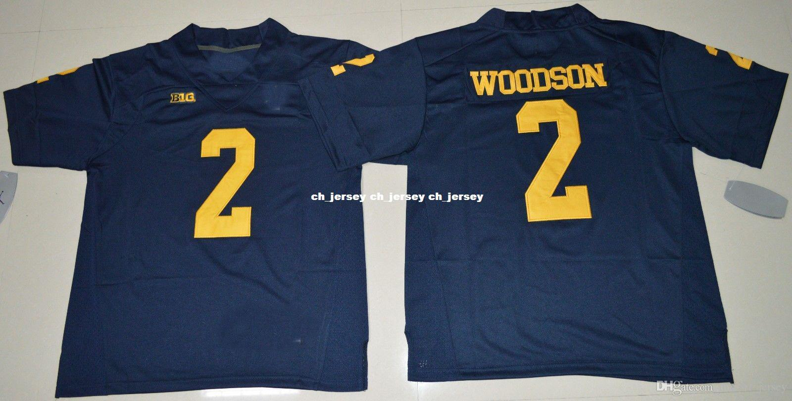 sports shoes b1c61 2d5f0 Cheap custom Michigan Wolverines Charles Woodson #2 College Football Jersey  Stitched Customize any number name MEN WOMEN YOUTH XS-5XL