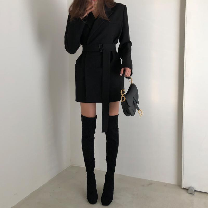 fb8748d42dc Spring Women Blazer Jacket Fashion 2019 New None Button Work Office ...