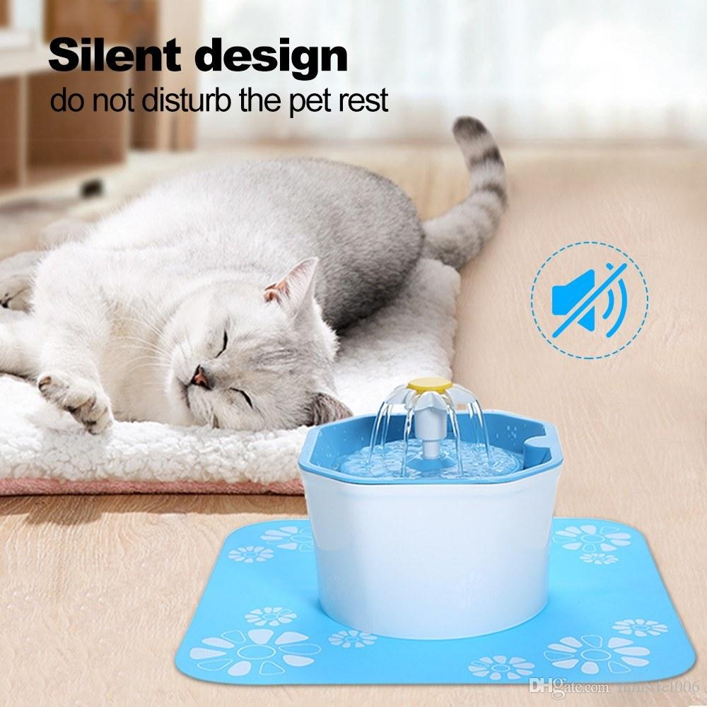 Automatic Cat Water Fountain 1.6l Electric Water Fountain Dog Cat Pet Drinker Bowl Pet Cat Drinking Fountain Dispenser 2019 Official Home