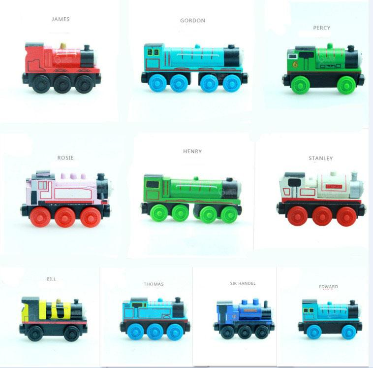 20pcs Emily Wood Train Magnetic Wooden Trains Car Toy Model Magnetic Toys Christmas Gift Kids Children Fit Wooden Thomas Tracks